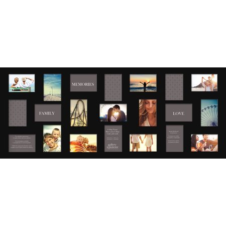 Gallery Solutions Flat Black 21 Opening Collage Wall