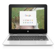 "HP Chromebook 11 X360, 11.6"" Corning Gorilla Glass Touchscreen Display, Intel Celeron N3350, Intel HD Graphics 500, 64GB eMMC, 4GB SDRAM, Snow White, 11-ae051wm (Refurbished)"