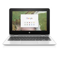 "HP Chromebook 11 X360, 11.6"" Corning Gorilla Glass Touchscreen Display, Intel Celeron N3350, Intel HD Graphics 500, 64GB eMMC, 4GB SDRAM, Snow White, 11-ae051wm"