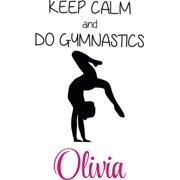 c4c2da64c Personalized Sport Vinyl Decal Sticker Custom Initial Wall Art  Personalization Keep Calm and Do Gymnastics Quote