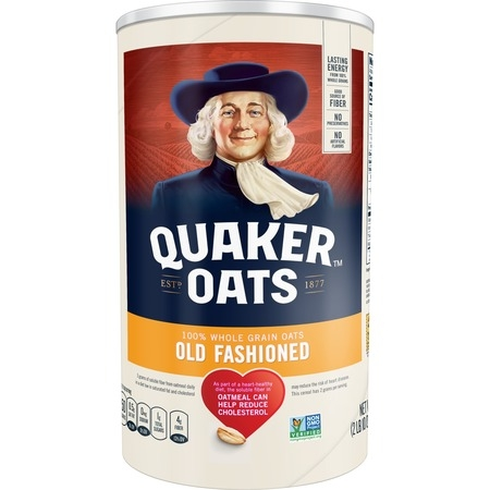 Quaker Old Fashioned Oats, 42 oz Canister (700 Oats)