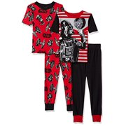 2245e2fbb4 Star Wars Little Boys  Galactic 4-Piece Cotton Pajama Set