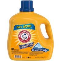 Arm & Hammer Clean Burst Liquid Laundry Detergent, 160.5 fl oz