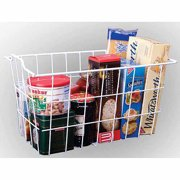Panacea 40604 White Vinyl Coated Wire Storage Basket