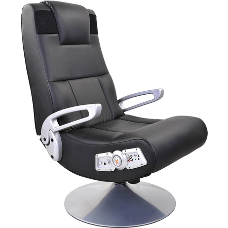 X Rocker Pedestal Gaming Chair Rocker with Bluetooth Technology