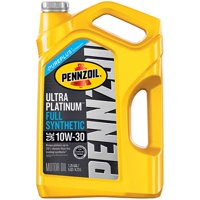 Pennzoil Ultra Platinum 10W-30 Full Synthetic Motor Oil, 5 qt