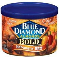 (3 Pack) Blue Diamond Bold Habanero BBQ Almonds, 6 oz