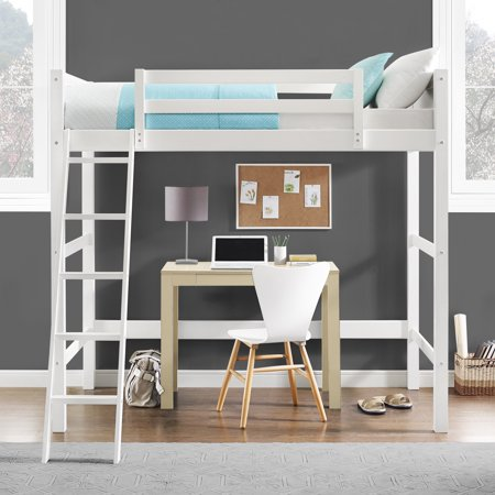 Your Zone Collection Twin Wood Loft Bed Multiple Colors Walmart Com