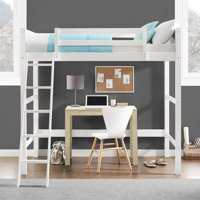 Your Zone Collection Twin Wood Loft Bed, Multiple Colors
