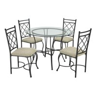 Mainstays 5-Piece Glass Top Metal Dining Set