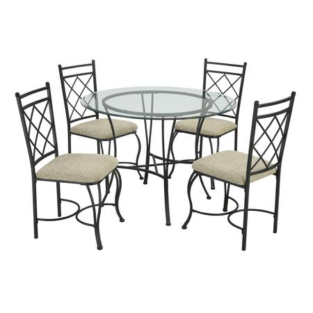 Glass Antique Dining Table Set (Mainstays 5-Piece Glass Top Metal Dining Set)