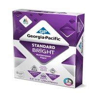 """Georgia-Pacific Std. Bright Paper 8.5""""x11"""", 20lb/96 Bright, 500 Sheets"""