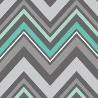 Emma & Mila Fresh Mint Collection Cotton Chevron in Grey Fabric, per Yard