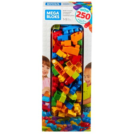 Maple Blocks Set - Mega Bloks Big Builders Build 'N Create 250-Piece Block Set