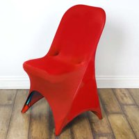 Stretchy Spandex Fitted Folding Chair Cover, Red