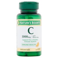 Nature's Bounty Vitamin C with Rose Hips, 1000mg Coated Caplets, 100ct