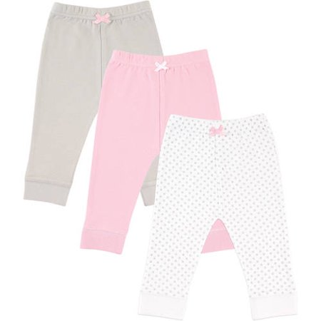 Baby Girl Keepsake (Luvable Friends Newborn Baby Girls' Tapered Ankle Pants 3-Pack, Choose Your Color & Size)
