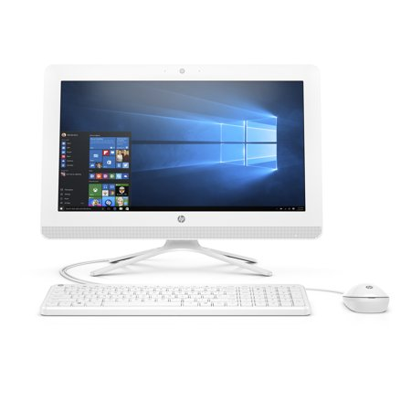 HP 20-C410 Snow White All in One PC, Intel CeleronJ4005 Graphics, 4GB Memory, 1TB Hard Drive, Intel UMA Graphics, Windows 10, DVD, Keyboard and (Best Eluktronics All In One Computers)