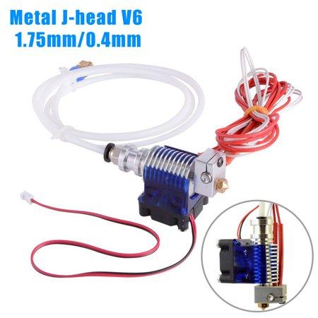 Fax Kit (TSV Metal J-head V6 Hotend 0.4mm Nozzle Bowden Makerbot Reprap E3D Printer Fan Kit )