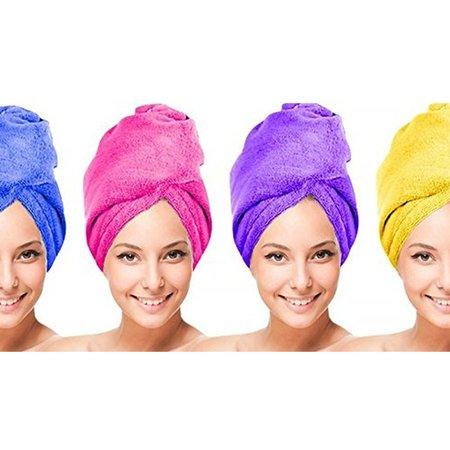 Towel Unit - Microfiber Hair Twist Towel Hair Drying Towel Clean Dry - 4 UNITS