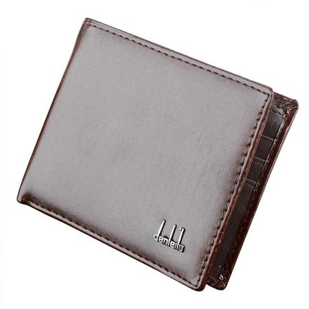 Mens Synthetic Leather Purse Wallet  Pockets Credit/ID Cards Holder (Leather Mlb Wallet)
