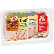 Oscar Mayer Deli Fresh Oven Roasted Turkey Breast & Smoked Uncured Ham, 15 Oz.