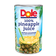 (4 pack) Dole 100% Pineapple Juice 46 fl. Oz Can