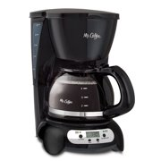 Mr. Coffee Programmable Drip Coffee Maker, 5 Cup, Black Stainless (BVMC-TFX7)
