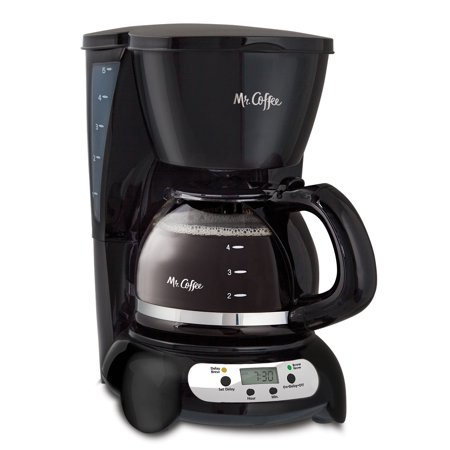 Clean Automatic Drip Coffee Maker (Mr. Coffee 5 Cup Programmable Black & Stainless Steel Drip Coffee Maker )