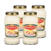 (4 Pack) Bertolli Garlic Alfredo with Aged Parmesan Cheese Pasta Sauce 15 oz.