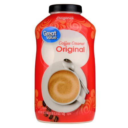 - Great Value Coffee Creamer, Original, 35.3 oz