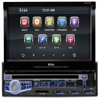 "Boss Bv9976b Car Dvd Player - 7"" Touchscreen Lcd - Single Din - Dvd Video, Video Cd, Mp4, Mpeg, Avi - Am, Fm - Secure Digital [sd], Multimediacard [mmc] - Bluetooth - Auxiliary Input - 2 X (bv9976b)"