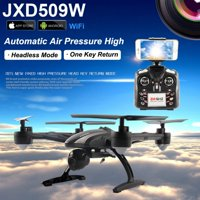 JXD509G FPV Real time RC Quadcopter One Key Return 2.4GHz Headless Mode Helicopter Drone With HD Camera RTF