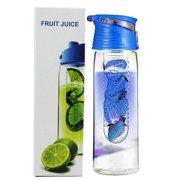 bc3f3299b8 Joyfeel Clearance 800 Milliliter Fruit Infusing Water Bottle with Fruit  Infuser and Flip Lid Lemon Juice