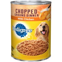 (12 Pack) PEDIGREE Chopped Ground Dinner With Chicken Adult Canned Wet Dog Food, 22 oz. Can