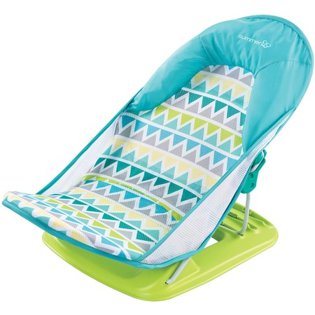 Infant Newborn Bathtub (Summer Infant Deluxe Baby Bather, Triangle Stripe)