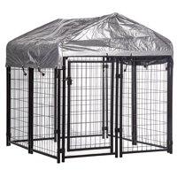 4'x4'x4.4' OutDoor Heavy Duty Playpen Welded Dog Kennel W/ Water-Resistant Cover