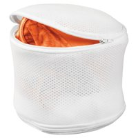 Honey Can Do Breathable Bra Laundry Bag with Zipper, White (Pack of 2)