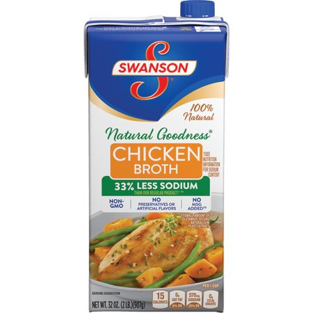 Swanson Natural Goodness Chicken Broth, 32 oz. (Natural Shock)
