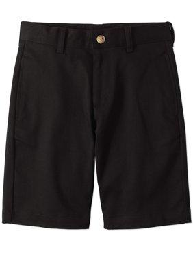Boys Slim School Uniform Super Soft Flat Front Shorts