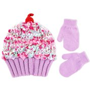 cb6c6df5b1066 ABG Accessories Cup Cake Style Beanie and Mittens Cold Weather Set