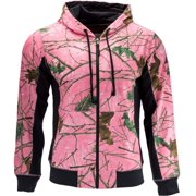e1e4edfd3e9c2 Trail Crest Women's Cambrillo Full Zip Up Hooded Sweatshirt Jacket, Pink  Camo