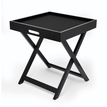 Urban Shop Side Table with Removable Tray, Multiple Colors ()
