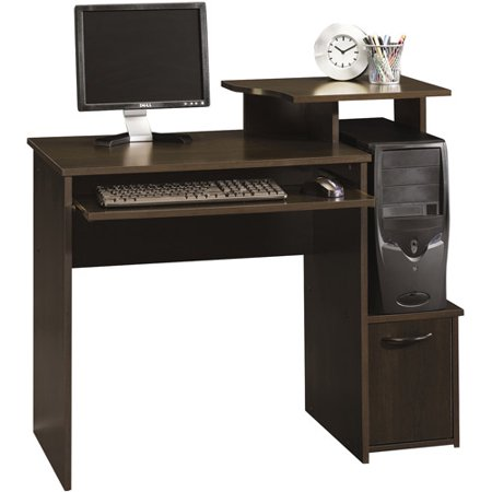 Sauder Beginnings Student Desk, Cinnamon Cherry Finish Computer Credenza Sauder Office Furniture