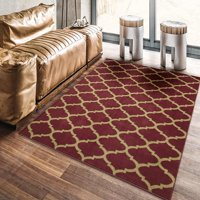 "Ottomanson Royal Collection Contemporary Moroccan Trellis Design Area Rug, 5'3"" X 7'0"", Grey"