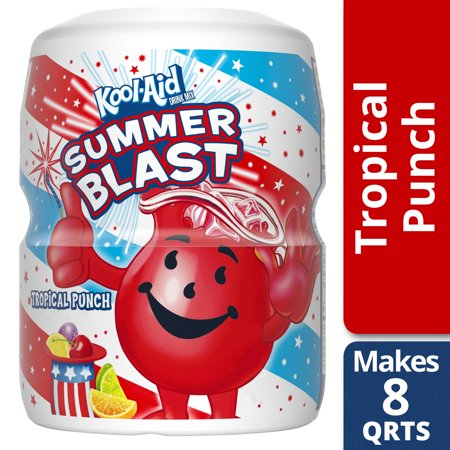 Kool-Aid Sugar Sweetened Tropical Punch Powdered Soft Drink, 19 oz
