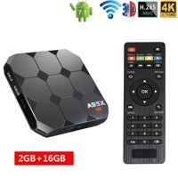 Android TV Box A95X R2 Android 7.1.2 Smart TV Box With WiFi 4K Bluetooth 4.0 Amlogic S905W Quad Core,(2GB RAM+16GB ROM)