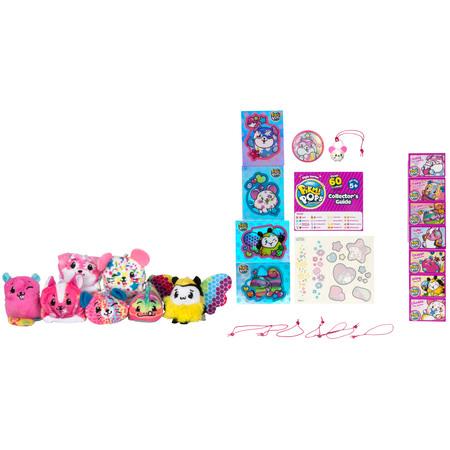 Pikmi Pops Style Plush Mega Pack Marshmallow, with 7 Mini Plush (Baby Marshmallow Man)