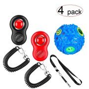 Dog Clicker for Training Dogs, Dog Training Clicker with Wrist Strap and Whistle, Pet