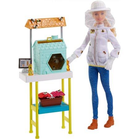 Barbie Makeover (Barbie Careers Beekeeper Doll and Beehive Playset, Blonde Hair)